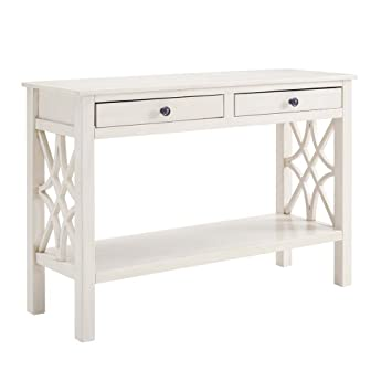 Linon Whitley Antique White Console Table