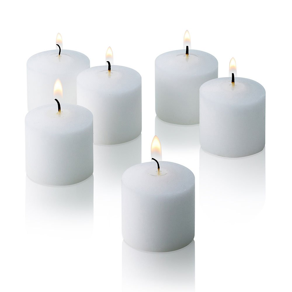 White Jasmine Scented Candles - Bulk Set of 72 Scented Votive Candles - 10 Hour Burn Time - Made in The USA by Light In The Dark