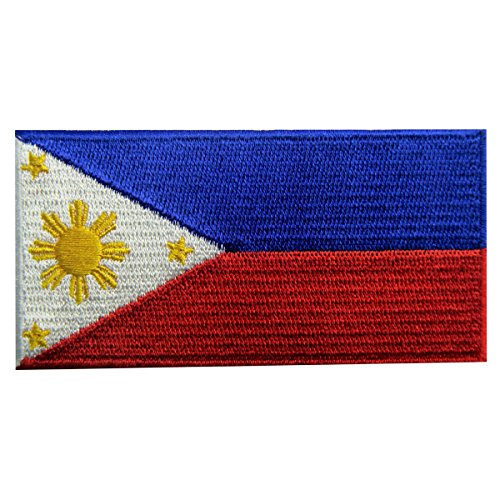 [Philippines Flag Embroidered Patch Filipino Iron On Sew On National Emblem] (Philippines National Costume Boys)