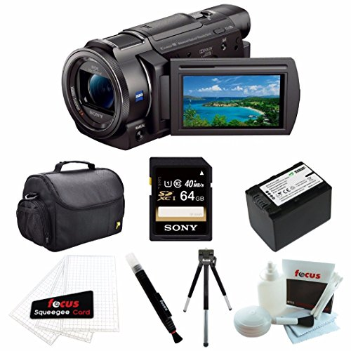 Sony FDR-AX33 4K Camcorder with 64GB Deluxe Accessory Bundle (Sony Fdr Ax33 4k Ultra Hd Handycam)