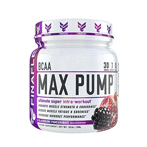 BCAA Max Pump, 30 Servings, Branched Chain Amino Acids Plus Pump, Increase Strength, Endurance, and Blood Flow to Muscles, Extend Workouts, Pre Intra Post Workout (BlackBerry Pomegranate)