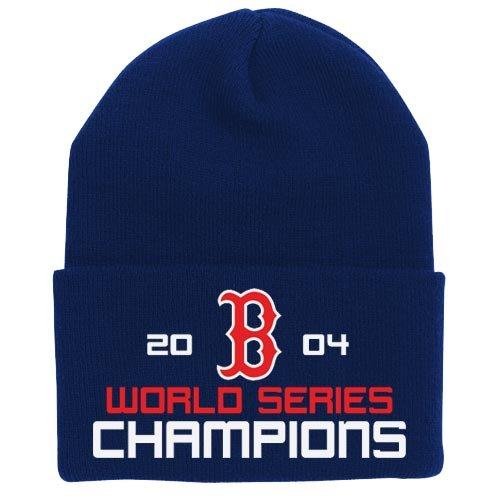 Twins Enterprise Boston Red Sox 2004 World Series Champions Navy Knit Beanie