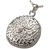 Memorial Gallery MG-3151s Sand Dollar Sterling Silver Cremation Pet Jewelry