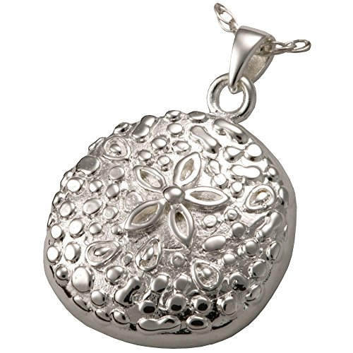 Memorial Gallery MG-3151s Sand Dollar Sterling Silver Cremation Pet Jewelry by Memorial Gallery