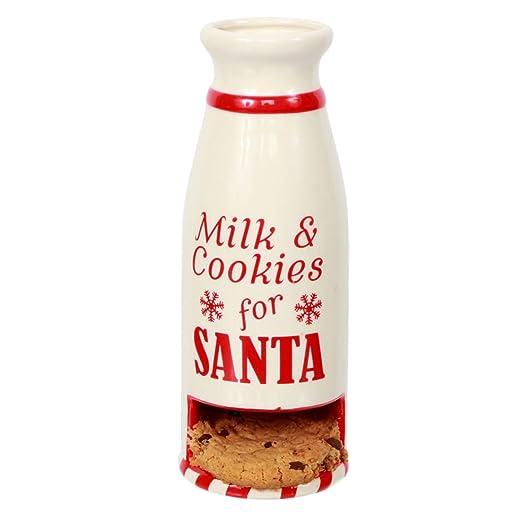 Bottle of milk & cookies for santa