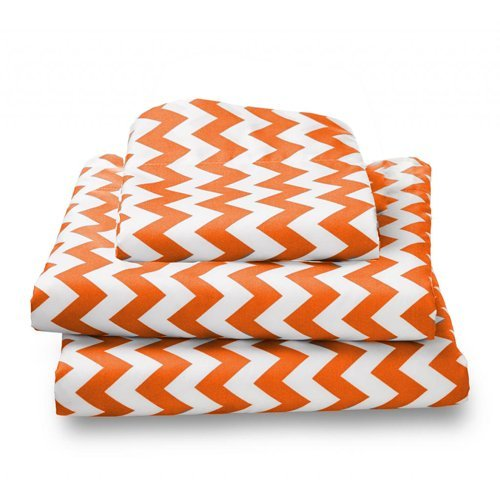 bkb Chevron Toddler Sheet Set, Orange