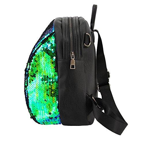 Novias Boutique Frauen Mädchen Mode Pailletten Rucksack Schultertasche Party Tasche für die Reise (grün) grün UvmzVpz
