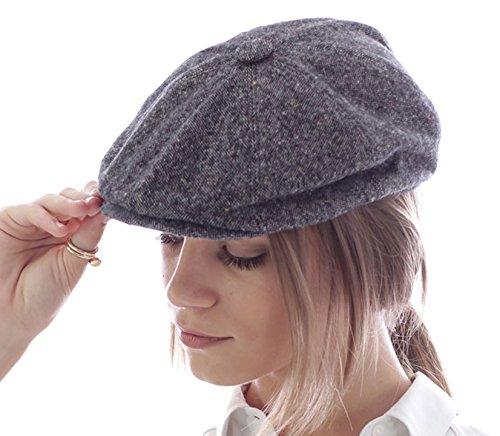 Dandy Coppola Gatsby feutre de laine chapeau coppola chapeaux hute Keyone (Gris)