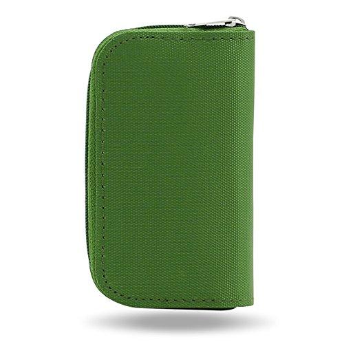 jys365SD SDHC MMC CF Micro SD tarjeta de memoria de almacenamiento Funda de transporte caso cartera, Verde