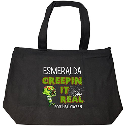 Costume D'esmeralda (Esmeralda Creepin It Real Funny Halloween Costume Gift - Tote Bag With Zip)
