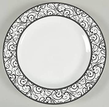 ciroa veluto black fine china dinner plates set of four 10 58 - China Dinner Plates