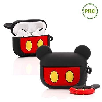 LEWOTE Airpods Carcasa de Silicona LEWOTE Airpods Pro dise/ño de Dibujos Animados 3D Carcasa de Silicona para Apple Airpods Pro Two Eyes Minions