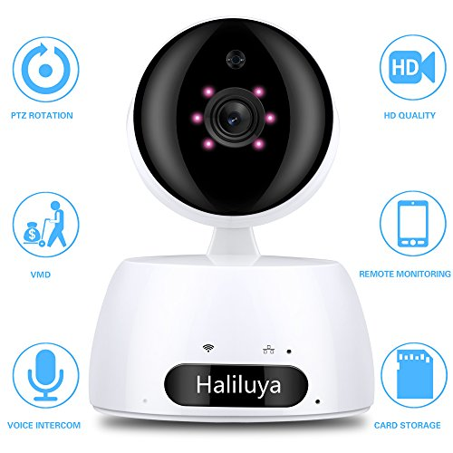 720P IP Wireless Security Camera WiFi Security Surveillance Camera Home Indoor Baby Monitor with Pan/Tilt,Motion Detection,IR Night Vision Two-Way Audio (White)