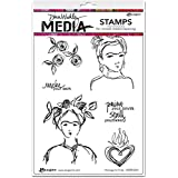 "Ranger Homage to Frida Dina Wakley Media Cling Stamps, 6"" x 9"""