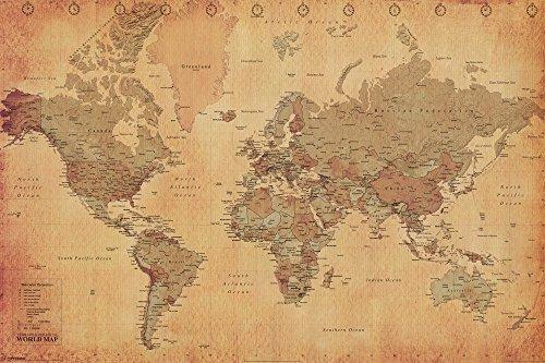 Vintage World Maps - 9