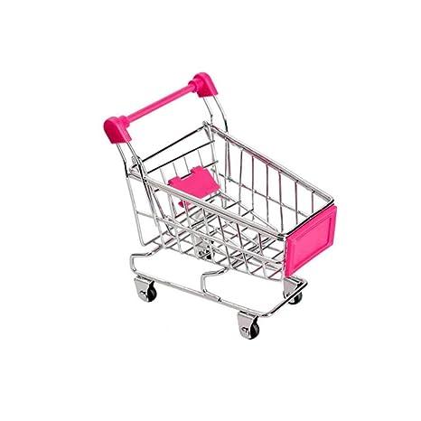 Bebé Niños Simulación Mini Carro de Compras Juguetes carros de Mano de supermercado Cesta del almacenaje