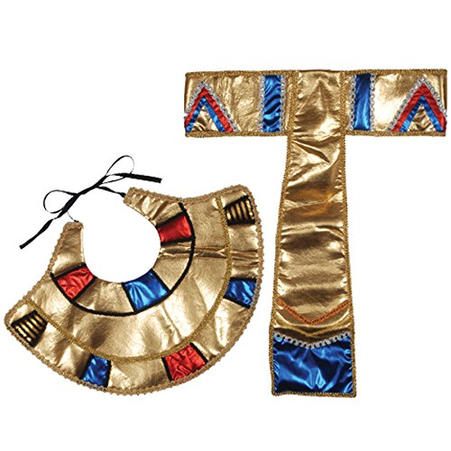 Loftus International Egyptian Collar & Belt Accessory Kit (2 Piece), One Size, Gold/Blue/Red]()