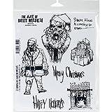 Brett Weldele Cling Stamps 7x8.5-Zombie Santa