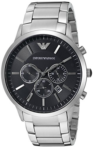 Sportivo Mens Stainless Steel Watch - Emporio Armani Men's AR2460 Dress Silver Watch
