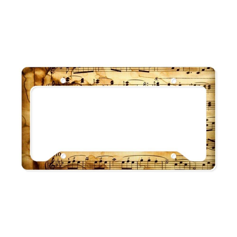 CafePress – Classical Musical Notes – アルミライセンスプレートフレーム、ライセンスタグホルダー B07419T8X4