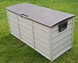 Outdoor Garden Plastic Storage Utility Chest Cushion Shed Box 248L Brown