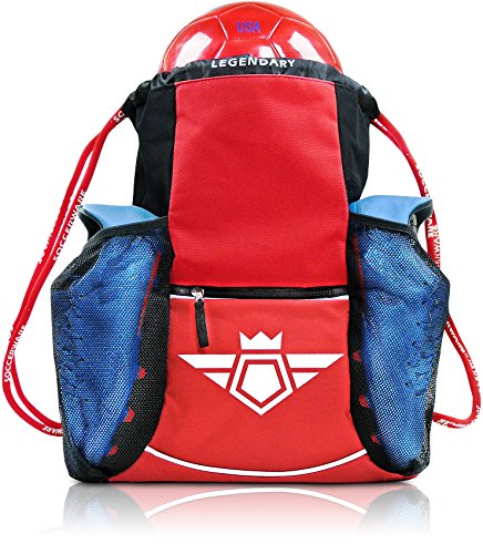legendary-drawstring-gym-bag-xl-capacity-fits-all-sports-gear-waterproof-heavy-duty-sackpack-red