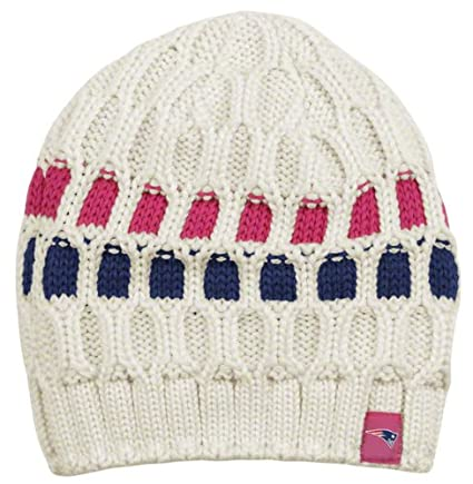 cfffa6b5ba7 Image Unavailable. Image not available for. Color  New England Patriots  Women s Pink Breast Cancer Uncuffed Knit Hat