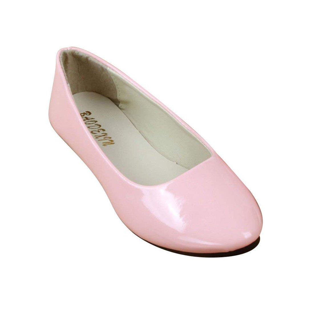 Femme Ballerines Plates Pointue Brillante Glisser sur Depolie Été Faux Cuir Plates Brillante Mode Simple Chaussures de Été Rose 7343fc0 - automatisms.space