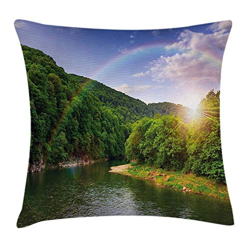 niunai Nature Throw Pillow Cushion Cover, Summer Scene