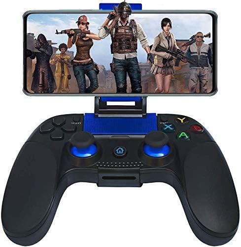 Mando para Android iOS Inalámbrico, Maegoo Inalámbrico Bluetooth Movil Android Mando Gamepad Joystick Controlador con Soporte Retráctil para iOS(11.3-13.3 Version) iPhone iPad Android Teléfono Tableta