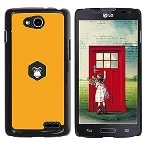Be Good Phone Accessory // Dura Cáscara cubierta Protectora Caso Carcasa Funda de Protección para LG OPTIMUS L90 / D415 // yellow Gorilla inside