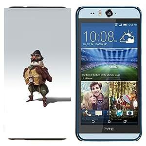EJOOY---Cubierta de la caja de protección para la piel dura ** HTC Desire Eye M910x ** --Piloto Hombre Vestimenta Uniforme Arte Pintura Fly
