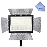 YONGNUO YN900 YN-900 Pro LED Video Light/ LED Studio Lamp with 3200k- 5500k Adjustable Color Temperatur e for the SLR Cameras Camcorders, like Canon Nikon Pentax Olympas Samsung Panasonic JVC etc. Comes with Microfiber Cleaning Cloth