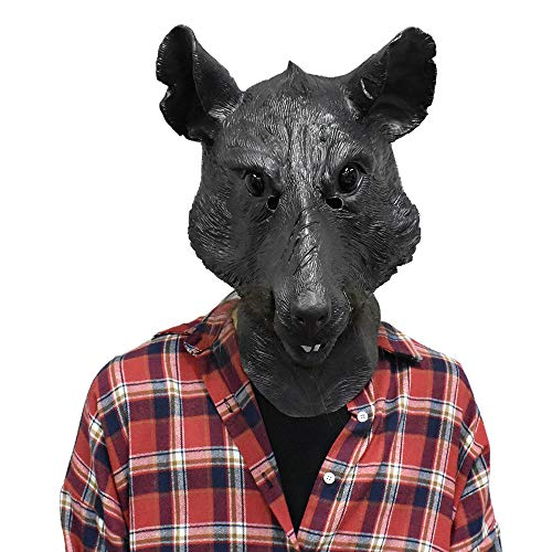 (Splinter Rat Head Mask Mouse Master Movie Role Halloween Costume Disguise for Adult)
