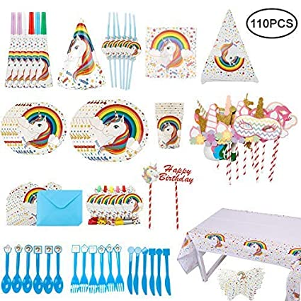 Amazon.com: Unicorn - Juego de accesorios de fiesta para ...