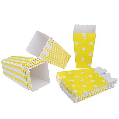 PALMFOX 36 pcs Cajas de Palomitas de maíz Cartón Bolsas de ...