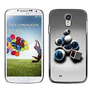 Paccase / SLIM PC / Aliminium Casa Carcasa Funda Case Cover para - Abstract - Samsung Galaxy S4 I9500