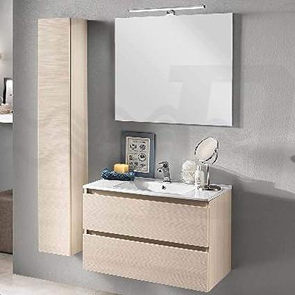 Mobile Per Il Bagno Fai Da Te.Lavabo In Ceramica Lunghezza 80 Cm Per Mobile Da Bagno Libra Da