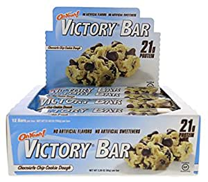 ISS Oh Yeah! Victory Chocolate Chip Cookie Dough 12 Bars - 2.29 oz (65 g) per Bar