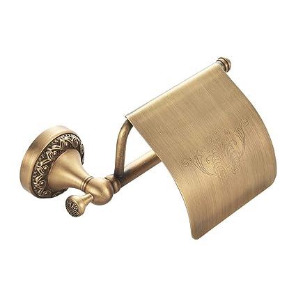 IrahdBowen Papel Higiénico Soporte de Pared de Bronce Higiene – Portarrollos WC Baño Accesorios Rollo Soporte