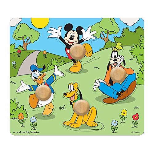 Melissa & Doug Disney Mickey Mouse and Friends Jumbo Knob Wooden Puzzle
