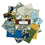 Kaufman Avery Hill 5in Charm Squares 42 Pcs Blue - Pre Cuts
