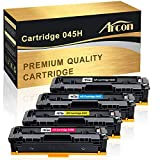 Arcon Compatible Toner Cartridge Replacement for Canon Cartridge 045 045H CRG-045H CRG-045 Canon 045 Canon Color ImageCLASS MF632Cdw MF634Cdw LBP612Cdw MF632 MF634 Laser Printer Toner Ink (BCMY,4PK)