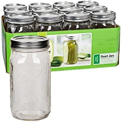 Ball Quart Jar, Wide Mouth, Set of 24