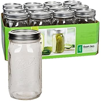 Ball Quart Jar, Wide Mouth, Set of 12 (Pack of 2)