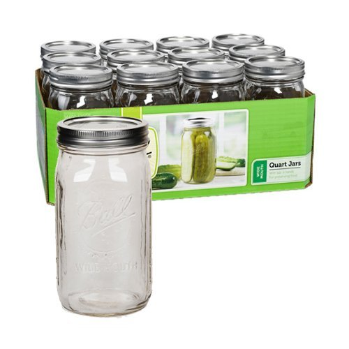 Ball Quart Jar, Wide Mouth, Set of 24 -