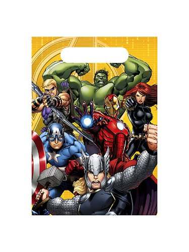 Avengers Assemble NEW Birthday Party Favor Loot Bags (8 per pkg)