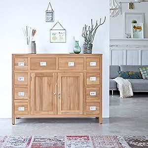 Arca teca maciza madera salón despacho habitación comedor diseño 135cm