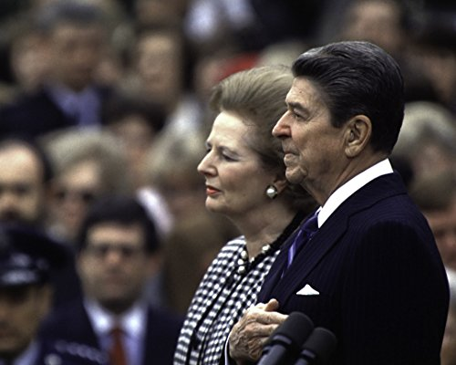 Globe Photos ArtPrints Ronald Reagan And Margaret Thatcher In Washington Dc - 10