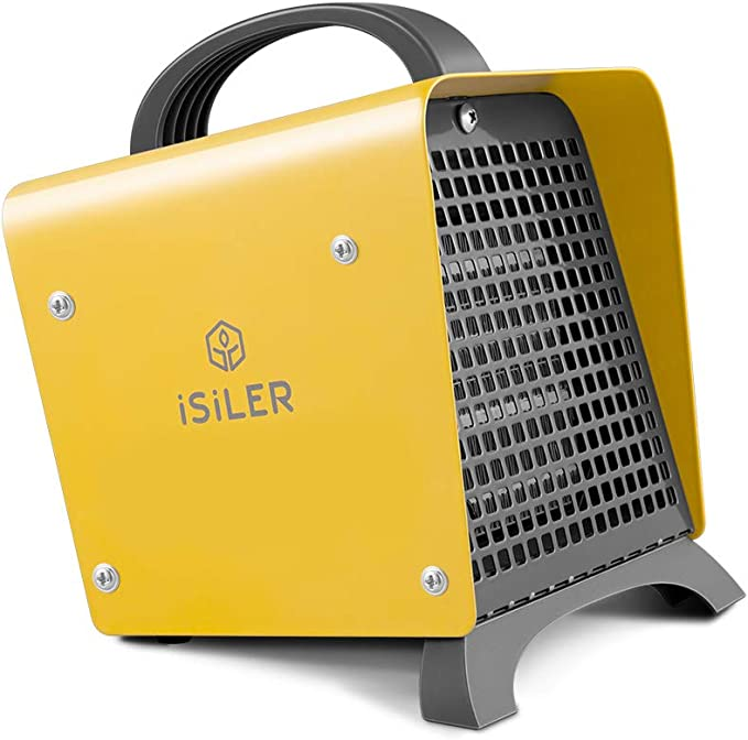 Blanco Mini ventilador calentador,Smart Space Heater,Calentadores el/éctricos port/átiles ,on pantalla digital con temporizador ajustable para el hogar y la oficina
